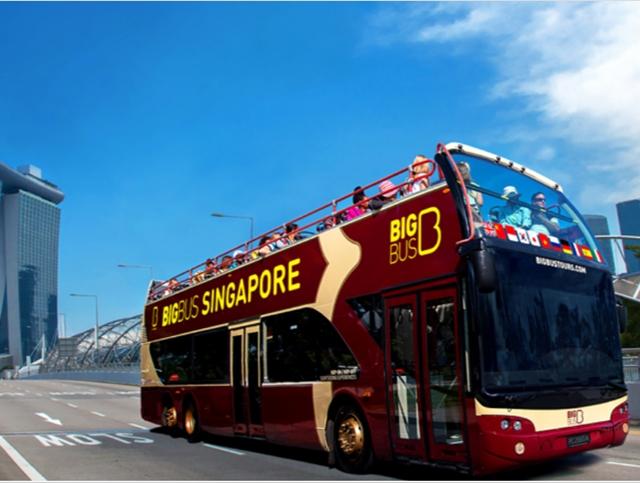 シンガポール・2階建て観光バス・ホップオンホップオフ